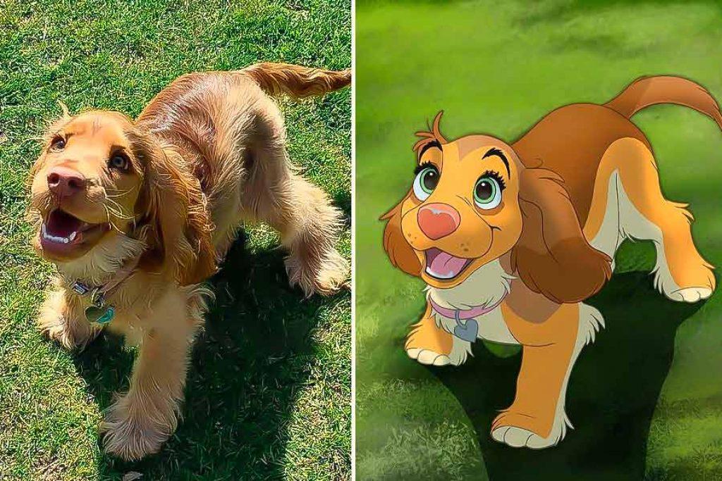foto de mascotas al estilo Disney