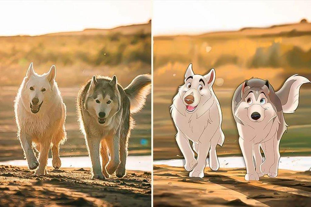 fotos de mascotas al estilo Disney