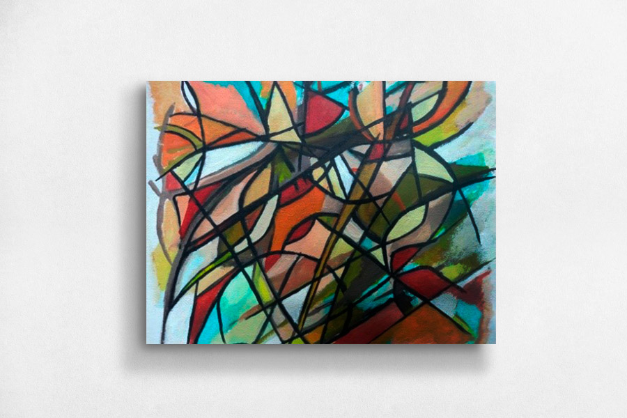 Cuadros de pintura abstractas