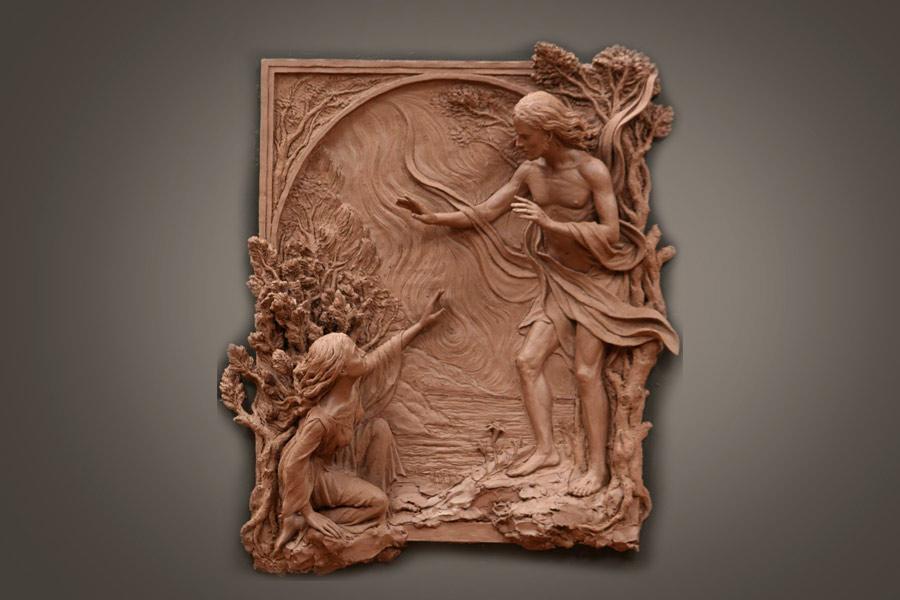 Escultura de relieve